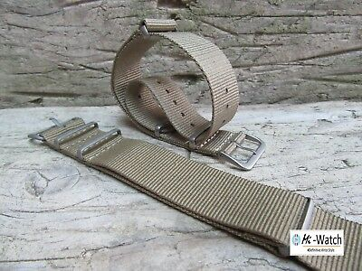 Nato Khaki G10 Nylon, Divers, MOD, Military Watch Strap Band 18, 20, 22, 24mm