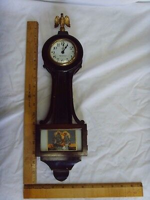 New Haven 8 Day Banjo Wall Clock Vintage Small Clock Not Working Nice Vintage