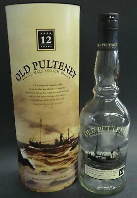 OLD PULTENEY 12 Y.O. SCOTCH BOX & BOTTLE (empty)