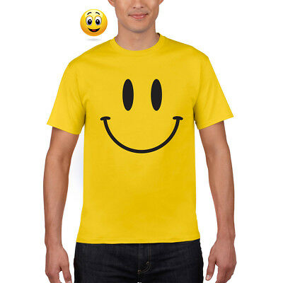 SMILEY FACE Acid House Dance Rave 90's RETRO DJ Tshirt Tee Top Multiiple Colours