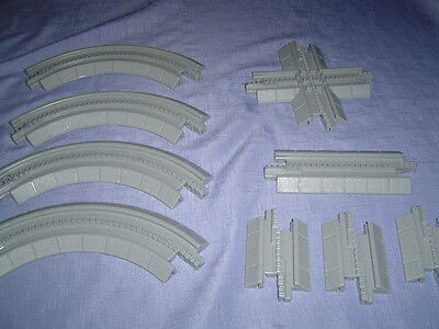 9 Geo Trax Gray Track Curved, Straight, & Crossover