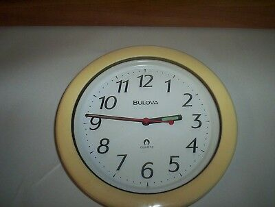 "Bulova Quartz Wall Clock Made in Japan : Battery Operated No. 4MG736 (8 3/8"")"