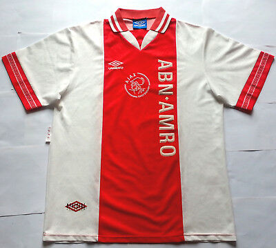 AJAX 1995 Champions League ABN AMRO Vintage UMBRO Home Shirt Jersey 1994 CL win