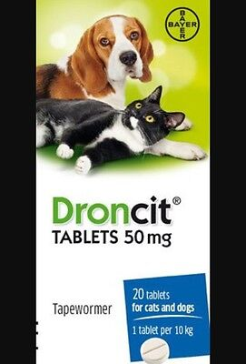 Droncit Tapeworm For Dogs and Cats x 1 Tablet