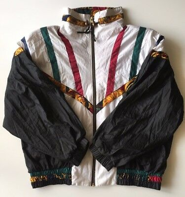 River Edge Sport Vintage Track Windbreaker Womens Size M Medium 80's 90's style