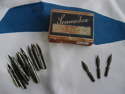 20 Ink Spoon point pen Calligraphy Nib Scennecken in Box Wright Geo-Hughes