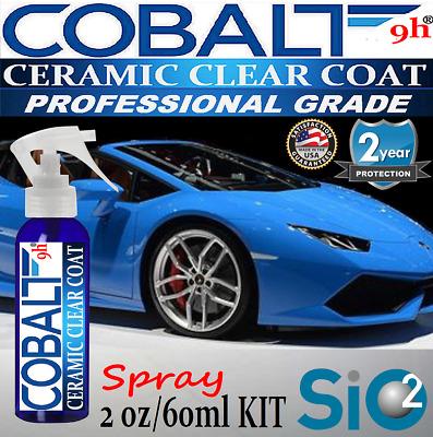 """SUPER CERAMIC 9H AUTO CLEAR COAT  """"WET LOOK""""  SPRAY ON  - 2oz/60ml  MADE IN USA"""