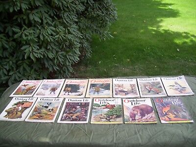 13 Vintage Outdoor Life Magazines Pre 1932 All Complete-Fair Shape-Some Issues