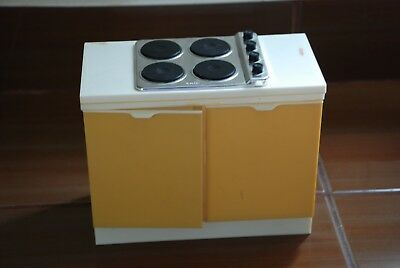 Vintage Toys Doll Sindy Stove Cooker Unit White And Yellow