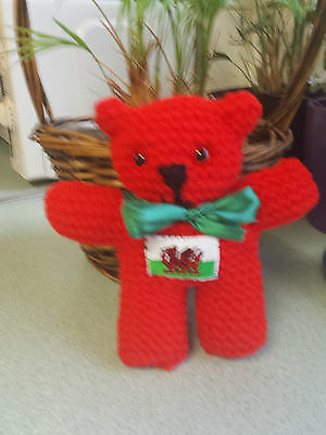 Rugby Six Nations Hand knitted Welsh Bear