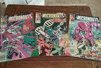 Lot Of 3 Marvel Comics The Micronauts #4 #5 And #17