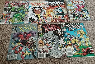 Large Lot Of 7 Marvel Classic X-Men Comic Books