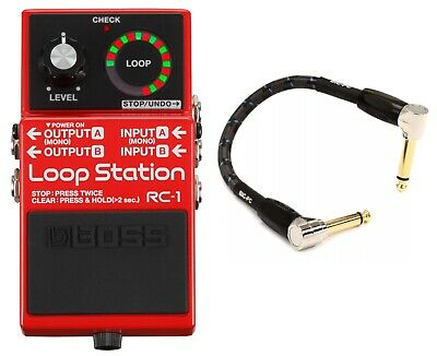 New Boss RC-1 Loop Station Guitar Pedal! FREE Boss 10 Foot Cable!