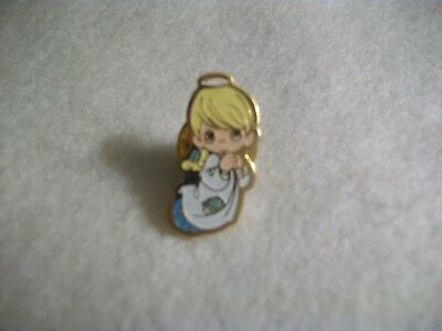 "Precious Moments Collector Pin - Boy Angel - Smaller 3/4"" Size"