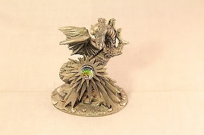 Small Pewter Dragon Figurine - The Dragon of Light - Roger Gibson GT. Britain