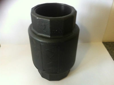 Poly Check Valve Spring Non Return 50mm (2 Inch) Water Only