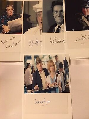 Christopher Biggins,ken Morley,Roy Barraclough And 2 Other Signed Photos