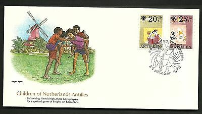 "FDC WORLDWIDE 1979 First Day Cover ""The World of Children "" NETHERLANDS ANTILLES"