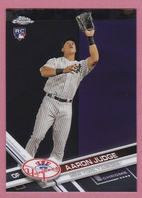 2017 Topps Chrome Aaron Judge Rookie Card #169 New York Yankees