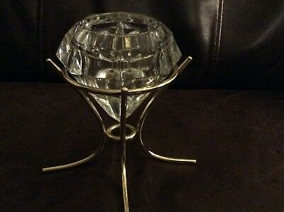 PARTYLITE SOLITAIRE Candle Holder ~ Excellent Pre-Owned 'RETIRED' Brass Version