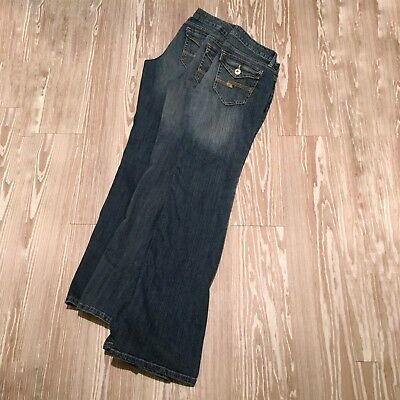 Lot 3 Arizona Womens 9 Long Average Jeans Favorite Boot Cut Button Flap Pocket