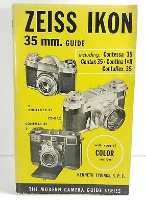 Zeiss Ikon 35mm Camera 128 Page Guide Book Second printing 1954 Kenneth Tydings