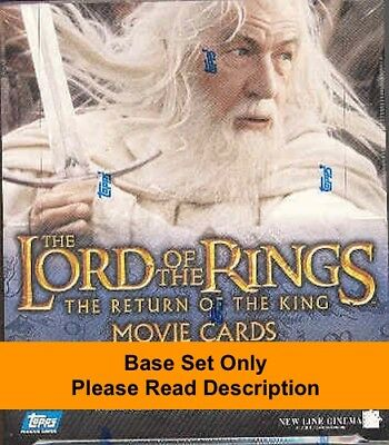 2003 Topps The Lord Of The Rings The Return Of The King Complete Base Set 1-90