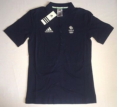 Olympic Team GB Cotton Polo Tee Official Training ATHLETE ISSUE BNWT UK 16