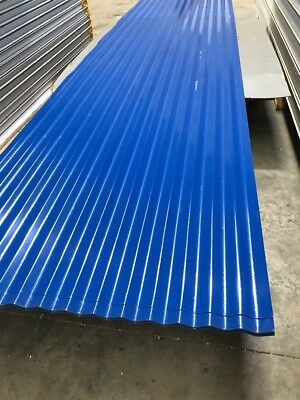 Corrugated Roofing Steel Sheets Ocean Blue Color $7 L/M