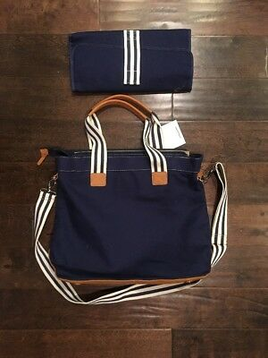 New Pottery Barn Kids Classic Diaper Bag Tote Leather Bottom*
