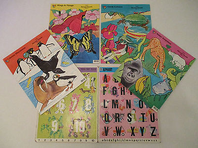 Mixed Lot Vintage Frame Tray Puzzles animals, abc's, numbers, nice variety