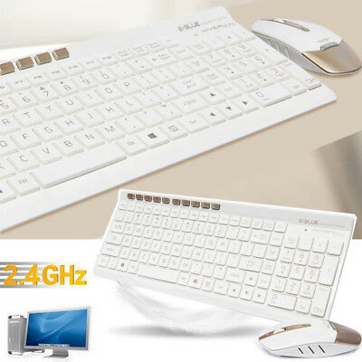 Slim 2.4GHz USB Wireless Gaming Keyboard and Mouse Combo Set For PC Laptop US