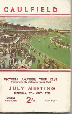1965 Caulfield Racebook