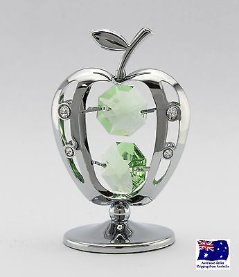 CRYSTOCRAFT Apple with SWAROVSKI crystals