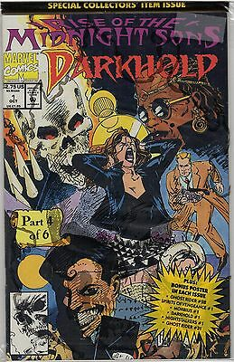 Darkhold 1 Ghost Rider Force Her Name Is Marvel Comic Book Back Issue 1992 Mix