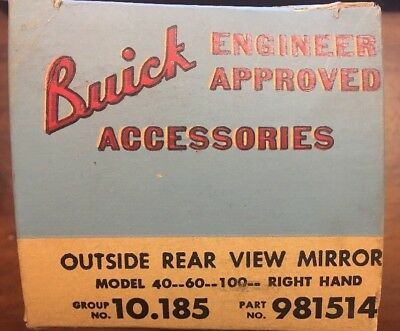 Nos 1954 1955 1956 Buick Right Hand Outside Rear View Mirror  Special Century