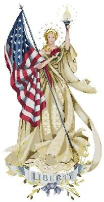 Lady of The Flag - Cross Stitch Chart - Free Postage