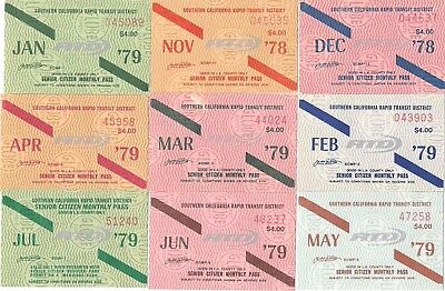 Lot of 11 mixed tickets for CALIFORNIA nice all different