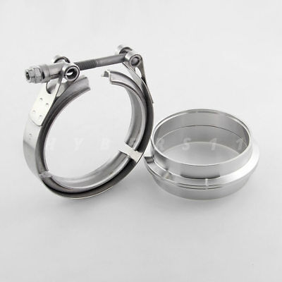 """Stainless Steel 3.5"""" V-band Clamp Female Male Flanges with for Exhuast Downpipe"""