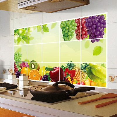 US Oilproof Removable Kitchen Mural Art Vinyl Wall Stickers Home Decal Decor DIY