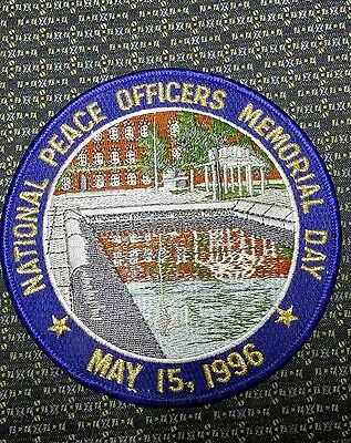 Rare National Pace Officers Memorial Day May 15, 1996 Police Shoulder Patch