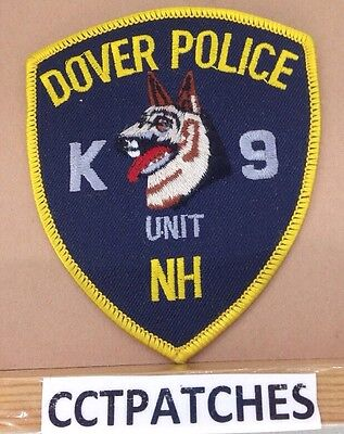 Dover, New Hampshire K-9 Unit Police Shoulder Patch Nh