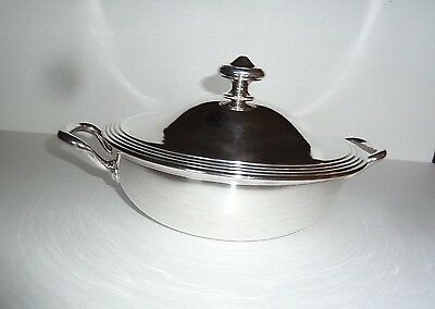 Vintage Christofle Silver Plate Bowl with Cover Stamped