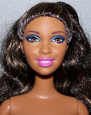 Nude Barbie Doll - African American Nikki Doll Articulated Pivital for OOAK