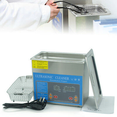 3L Ultrasonic Cleaner Industry Heated Heater Stainless Steel w/Timer +Basket