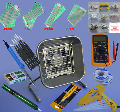 Electric Rework Soldering Iron Solder Repair Tools Kit with Multimeter Tools
