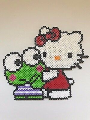 Hello Kitty Keroppi Hug Sanrio Friends Characters Handmade Anime Art Craft