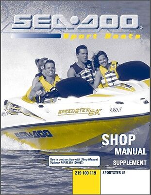 2000-2001-2002-2003 Sea-Doo Sportster LE Jet Boat Service Shop Manual CD