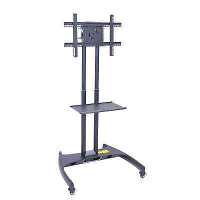 Luxor FP-Series Adjustable Flat Panel Cart with Shelf FP2500
