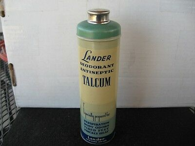 Vintage Talcum Powder Tin-Lander-Deodrant-Antiseptic-5th Ave-New York